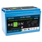 Relion RB100 Lithium Ion LiFePO4 Battery 12V 100Ah