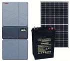 Off-Grid & Grid-Tie 5760 Watt Solar Kit With 5000 Watt 48VDC Inverter & Sealed AGM Battery