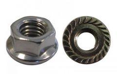 "QuickBOLT 5/16"" Hex Serrated QuickBOLT2 15876 Flange Nut 18-8 Stainless Steel"