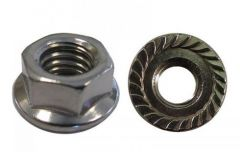 "QuickBOLT 5/16"" Hex Serrated QuickBOLT2 15876 Flange Nut 18-8 Stainless Steel Pack of 25"