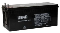 UPG Universal Battery UB-4D 200 Amp-hour 12V AGM Sealed Battery