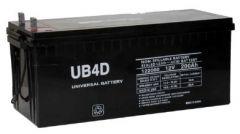 UPG Universal Battery UB-4D 200 Amp-hour 12V AGM Sealed Battery