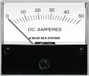 Blue Sea DC Analog Ammeter 8022 | 50 Amps