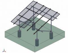 Tamarack Solar 90064 Ground Mount 3 Module Add-On Column Kit for use with 3.1 inch Rail