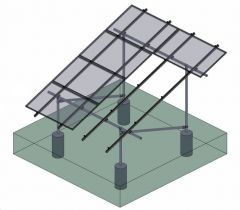Tamarack Solar 90071 Ground Mount 4 Module First Column Kit for use with 3.1 inch Rail