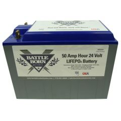 Battle Born Batteries BB5024 Lithium Ion Battery 24V 50Ah