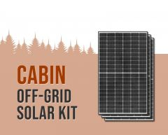 Cabin Off-Grid Solar Power Kit With 1,950 Watts of Panels and 3,400 Watt 24VDC 120/240VAC Inverter Power Panel