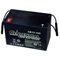 Centennial CB12-105 12V Sealed AGM VRLA Deep Cycle Battery