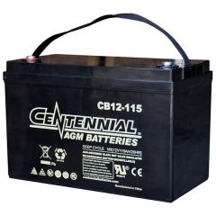 Centennial CB12-115 12V Sealed AGM VRLA Deep Cycle Battery