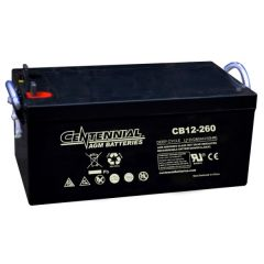 Centennial CB12-260 12V Sealed AGM VRLA Deep Cycle Battery