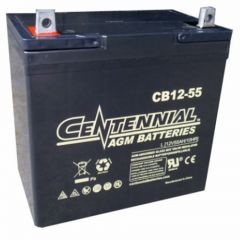 Centennial CB12-55 12V Sealed AGM VRLA Deep Cycle Battery
