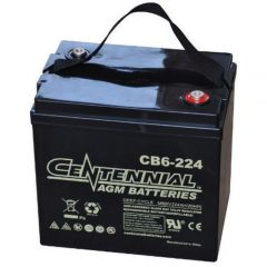 Centennial CB6-224 6V Sealed AGM VRLA Deep Cycle Battery