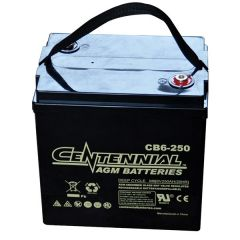 Centennial CB6-250 6V Sealed AGM VRLA Deep Cycle Battery