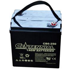 Centennial CB6-250 6V Sealed AGM VRLA Deep Cycle Battery