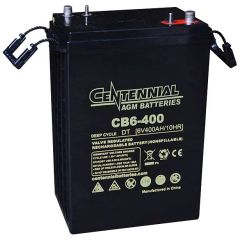 Centennial CB6-400 6V Sealed AGM VRLA Deep Cycle Battery
