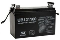 UPG Universal Battery UB121100 110 Amp-hour AGM Sealed Battery