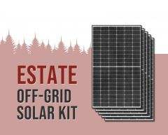 Estate Off-Grid Solar Power Kit With 17,280 Watts of Panels and 16,000 Watt 48VDC 120/240VAC Inverter/Charger