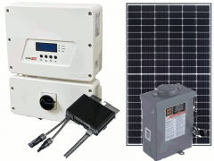 Grid-Tie Solar Poer Kit with 3200 Watts of Panels and 3000 Watt SolarEdge HD-Wave Inverter
