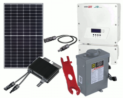 Grid-Tie Solar Power Kit with 13650 Watts of Panels and 11400 Watt Solar Edge HD-Wave Inverter
