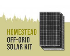 Homestead Off-Grid Solar Power Kit With 10,400 Watts of Panels and 6,800 Watt 48VDC 120/240VAC Inverter Power Panel