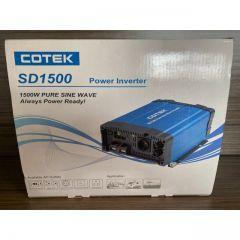 COTEK SD1500-112 1500 Watt 12 Volt Pure Sine Wave GFCI Inverter