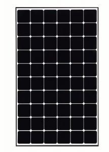 LG LG370Q1C-V5 370 Watt Monocrystalline Solar Panel with Black Frame