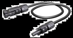 MC4-50-8AWG-MF-1KV, 50' MC4 Extender, 8 AWG, Single Jacket, 19 strand, 1KV, Male and Female Connector.