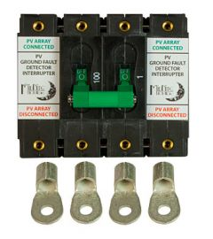 MidNite Solar MNDC-GFP100RT-2P Remote Trip Ground Fault Circuit Breaker