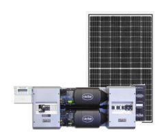 Off-Grid Solar Power Kit With 4950 Watts of Panels and 7200 Watt 48VDC 120/240VAC Inverter Power Panel