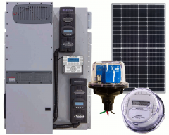 Off-Grid Solar Power Kit With 3840 Watt of Panels and 4000 Watt 48VDC 120/240VAC Inverter/Charger