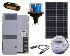 Off-Grid Solar Power Kit With 5760 Watts of Panels and 4000 Watt 48VDC 120/240VAC Inverter/Charger