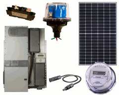 Off-Grid Solar Power Kit With 11,520 Watts of Panels and 8000 Watt 48VAC Inverter/Charger