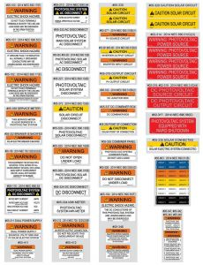 PV Labels 05-510 Value Pack 55 PCS (NEC2014)