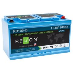 Relion RB100-D Lithium Iron Phosphate Battery 100Ah 12VDC