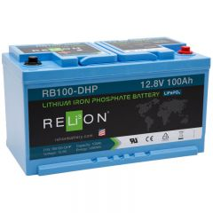 Relion RB100-DHP Lithium Iron Phosphate Battery 100Ah 12VDC