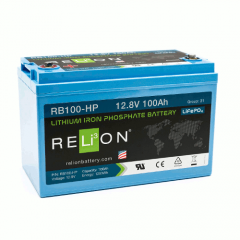 Relion RB100-HP Lithium Ion LiFePO4 Battery 12V 100Ah