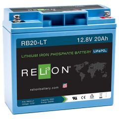 Relion RB20-LT Lithium Iron Phosphate Battery 20Ah 12VDC