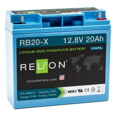 Relion RB20X Lithium Ion LiFePO4 Battery 12V 20Ah