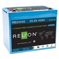 Relion RB24V40 Lithium Iron Phosphate Battery 40Ah 24VDC