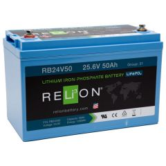 Relion RB24V50 Lithium Iron Phosphate Battery 50Ah 24VDC
