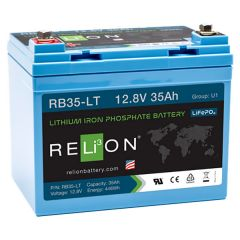 Relion RB35-LT Lithium Iron Phosphate Battery 35Ah 12VDC
