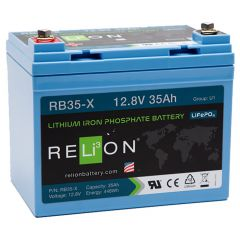 Relion RB35-X Lithium Iron Phosphate Battery 35Ah 12VDC