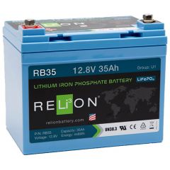 Relion RB35 Lithium Iron Phosphate Battery 35Ah 12VDC