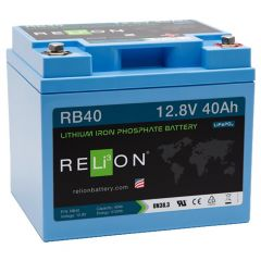 Relion RB40 Lithium Ion LiFePO4 Battery 12V 40Ah