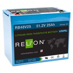Relion RB48V25 Lithium Iron Phosphate Battery 25Ah 48VDC