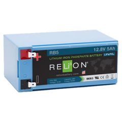 Relion RB5 Lithium Ion LiFePO4 Battery 12V 5Ah