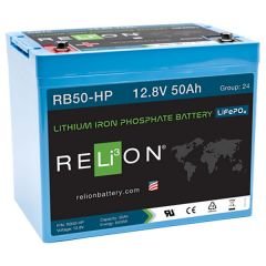 Relion RB50-HP Lithium Iron Phosphate Battery 50Ah 12VDC
