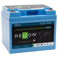 Relion RB50 Lithium Ion LiFePO4 Battery 12V 50Ah