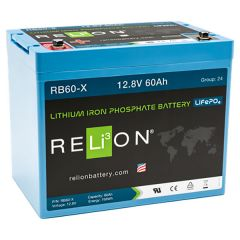 Relion RB60-X Lithium Iron Phosphate Battery 60Ah 12VDC