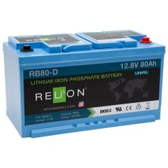 Relion RB80-D Lithium Iron Phosphate Battery 80Ah 12VDC